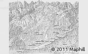 Silver Style Panoramic Map of Konar