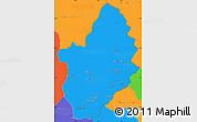 Political Simple Map of Konar