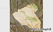 Satellite Map of Konduz, darken