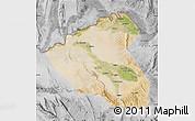Satellite Map of Konduz, desaturated