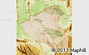Satellite Map of Konduz, physical outside