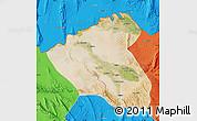 Satellite Map of Konduz, political outside
