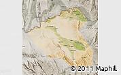 Satellite Map of Konduz, semi-desaturated