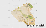Satellite Map of Konduz, single color outside