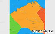 Political Simple Map of Konduz