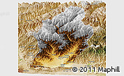 Physical Panoramic Map of Laghman, satellite outside