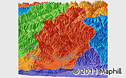 Political Panoramic Map of Laghman