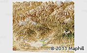 Satellite Panoramic Map of Laghman