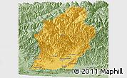 Savanna Style Panoramic Map of Laghman