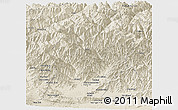 Shaded Relief Panoramic Map of Laghman