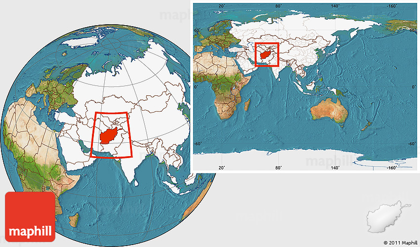 Satellite location map of afghanistan highlighted continent within 2d gumiabroncs Image collections