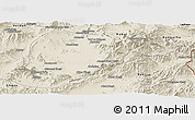Shaded Relief Panoramic Map of Lowgar
