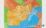 Political Shades Map of Afghanistan