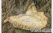 Satellite Map of Nangarha, darken