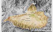 Satellite Map of Nangarha, desaturated