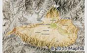 Satellite Map of Nangarha, semi-desaturated