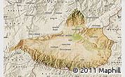 Satellite Map of Nangarha, shaded relief outside