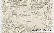 Shaded Relief Map of Nangarha