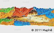 Physical Panoramic Map of Nangarha, political outside