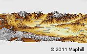 Physical Panoramic Map of Nangarha