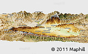Physical Panoramic Map of Nangarha, satellite outside