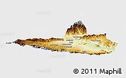 Physical Panoramic Map of Nangarha, single color outside
