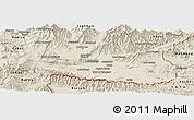 Shaded Relief Panoramic Map of Nangarha