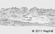 Silver Style Panoramic Map of Nangarha