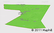 Political Panoramic Map of Nimruz, cropped outside