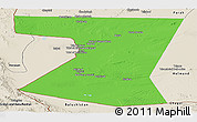 Political Panoramic Map of Nimruz, shaded relief outside