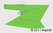 Political Panoramic Map of Nimruz, single color outside