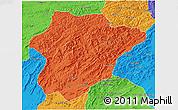 Political 3D Map of Oruzgan