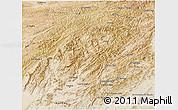 Satellite 3D Map of Oruzgan