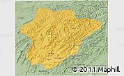 Savanna Style 3D Map of Oruzgan