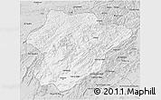 Silver Style 3D Map of Oruzgan