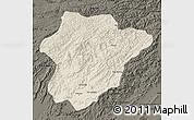 Shaded Relief Map of Oruzgan, darken