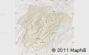 Shaded Relief Map of Oruzgan, lighten