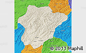 Shaded Relief Map of Oruzgan, political outside