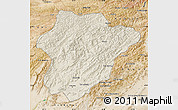 Shaded Relief Map of Oruzgan, satellite outside