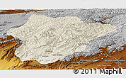 Shaded Relief Panoramic Map of Oruzgan, physical outside