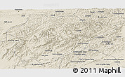 Shaded Relief Panoramic Map of Oruzgan