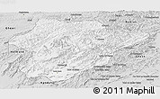 Silver Style Panoramic Map of Oruzgan