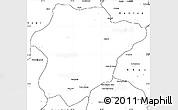 Blank Simple Map of Oruzgan