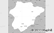 Gray Simple Map of Oruzgan
