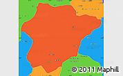 Political Simple Map of Oruzgan
