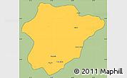 Savanna Style Simple Map of Oruzgan, cropped outside