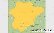 Savanna Style Simple Map of Oruzgan