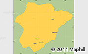 Savanna Style Simple Map of Oruzgan, single color outside