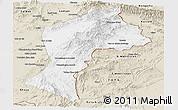 Classic Style Panoramic Map of Paktia
