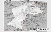 Gray Panoramic Map of Paktia